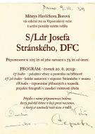 Vzpomínkový večer na letce S/Ldr Josefa Stránského, DFC 1